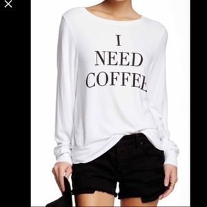 Wildfox I need coffee sweatshirt size m